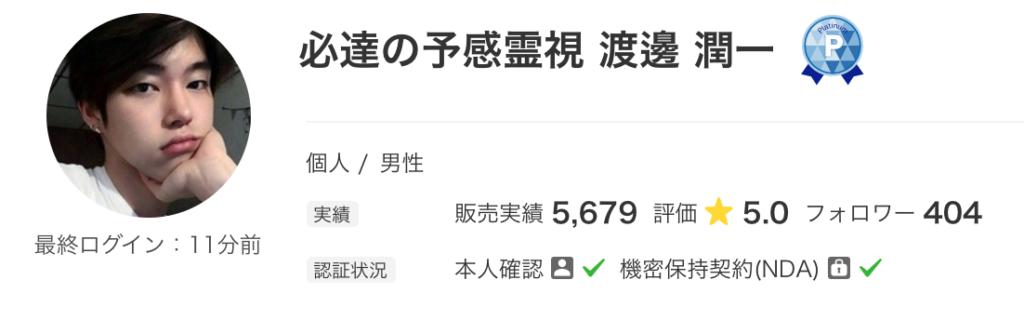 渡邊 潤一さんのプロフィール