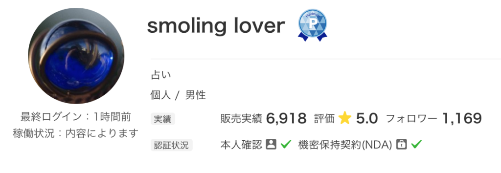 smoling loverさんのプロフィール